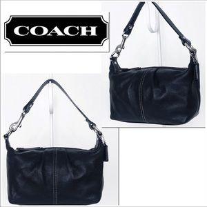 Coach Legacy West Black Leather Baguette Hobo Bag